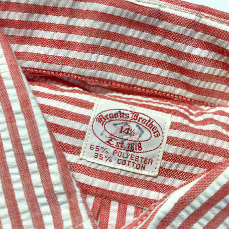 1970's〜 Brooks Brothers Seersucker S/S Shirt Deadstock