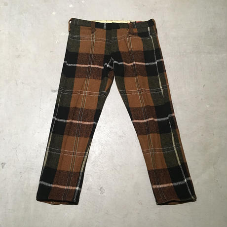 1960's MILLER Wool Lowrise Tapered Pants Deadstock