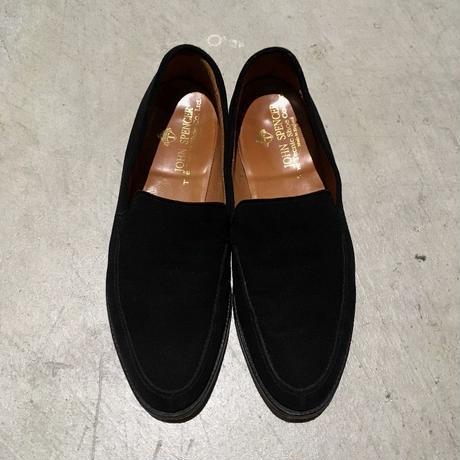 1980's JOHN SPENCER Black Nubuck Loafers