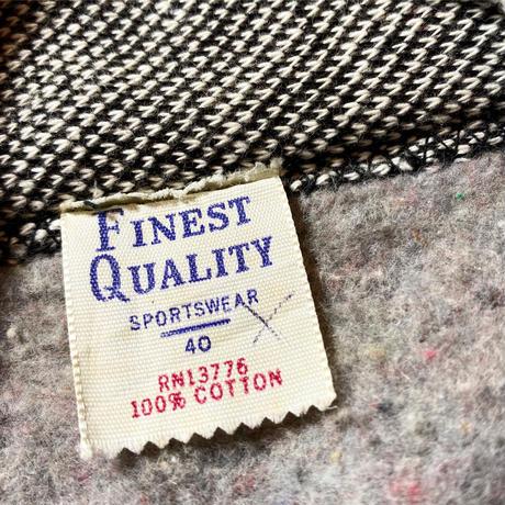 1950's FINEST QUALITY Solt&Pepper Sweat Cardigan Deadstock