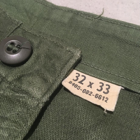 1960〜70's US.ARMY Utility Trousers