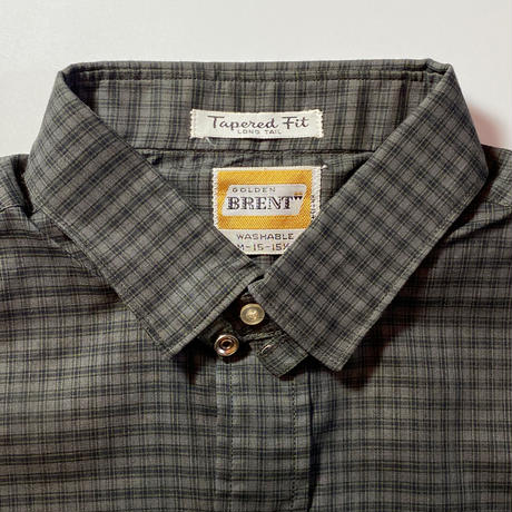 1960's BRENT Tab Color L/S Shirt Deadstock