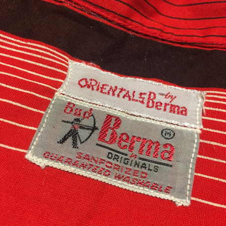 1960's Bud Berma Stand Collar L/S Shirt
