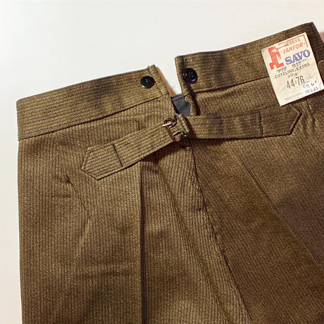 1940's〜 SAVO Brown Pipue Trousers Deadstock