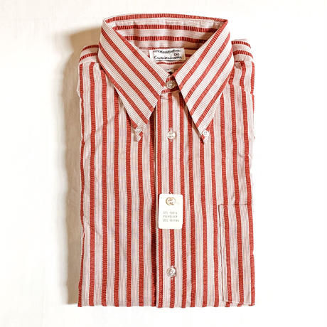 1970's Manhattan Seersucker S/S Shirt Deadstock