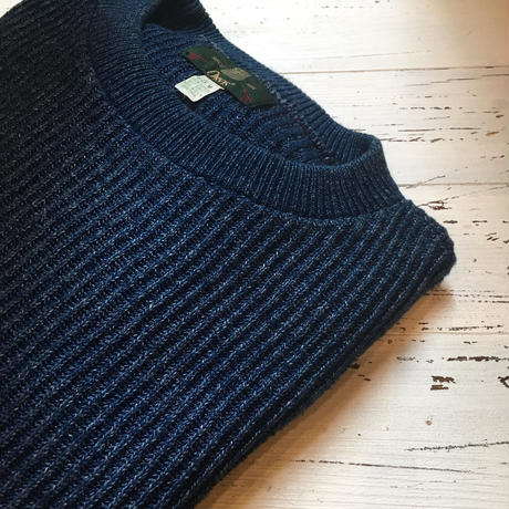 1980〜90's ORVIS Indigo Cotton Sweater