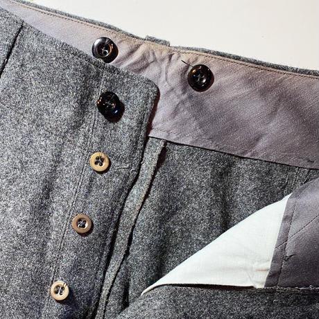 1950's Danish Military Wool Trousers Deadstock