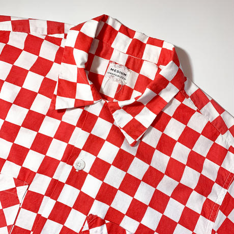 1950's〜 Unknown Checkered Flag Pattern S/S Shirt