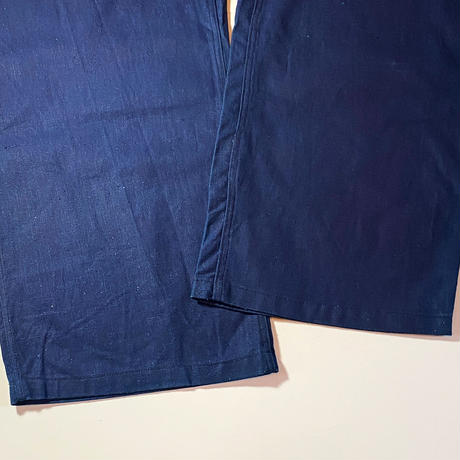 1940's French Unknown Indigo Cotton&Linen Overall Deadstock