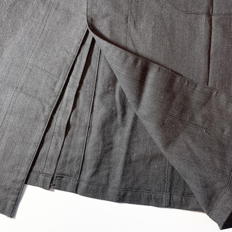 1940〜50's Unknown Black Chambray Atelier Coat Deadstock