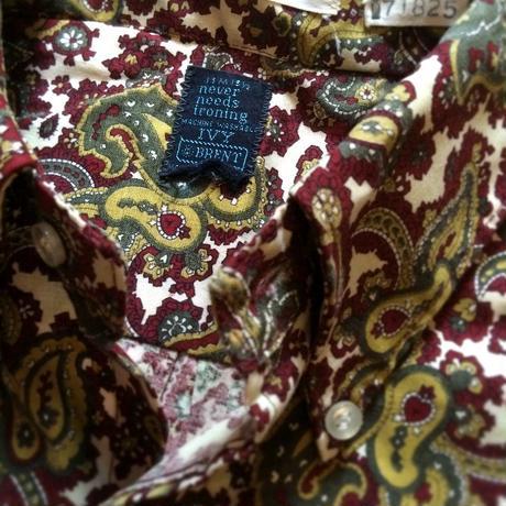 1960's  BRENT Paisley Pattern S/S Shirt