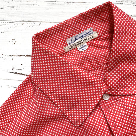 1960's I.MAGNIN&CO. Pin Dots L/S Shirt