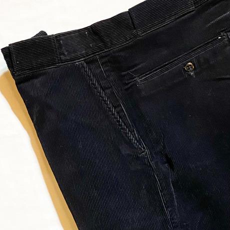 1950's Unknown Corduroy Trousers Black Deadstock