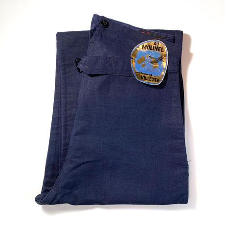 1940's AU MOLINEL Linen Trousers Deadstock