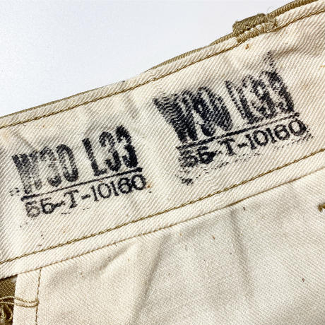 1940's US.ARMY M-45 Chino Trousers Deadstock