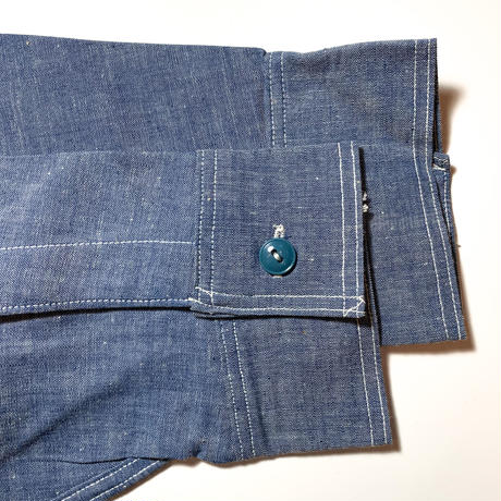 1940's US.NAVY Chambray L/S Shirt Deadstock