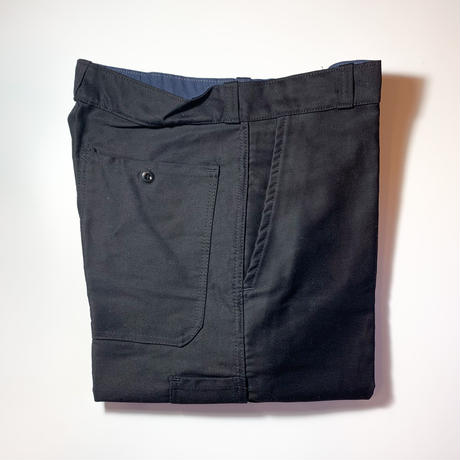 1950's〜 French Unknown Black Moleskin Trousers Deadstock