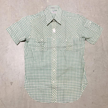 1970's J.SVOBODA SONS Indian Madras S/S Shirt Deadstock