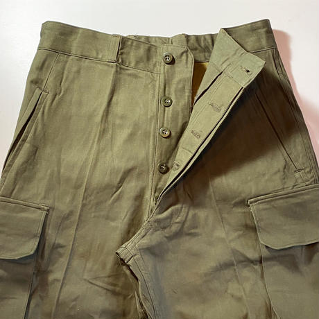 1950〜60's French Army Herringborn Trousers Deadstock