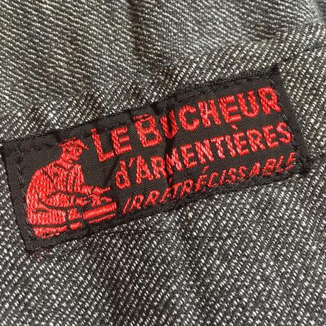 1950's Le Bucheur d'Armentieres Black Chambray Atelier Coat Deadstock