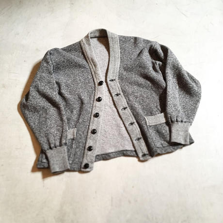 1950's Unknown Salt&Pepper Sweat Cardigan