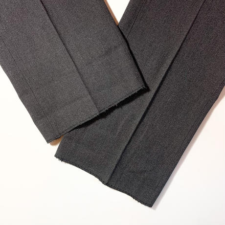 1950's Unknown Black Covert Trousers Deadstock
