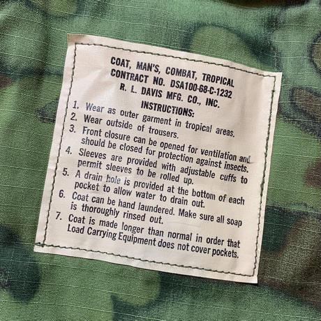 1960's US.ARMY ERDL Jungle Fatigue Jacket Deadstock