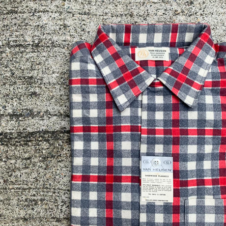 1960's VAN HEUSEN Flannel L/S Shirt Deadstock