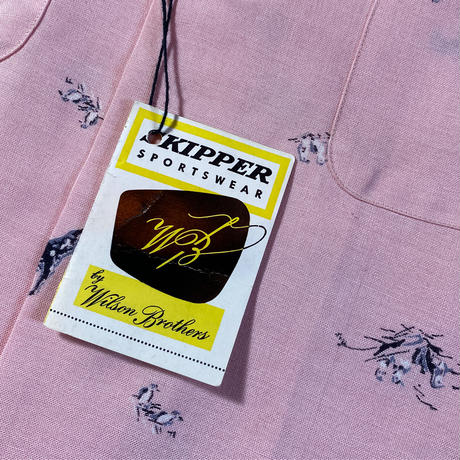 1960's WILSON BROTHERS Rayon L/S Shirt Deadstock