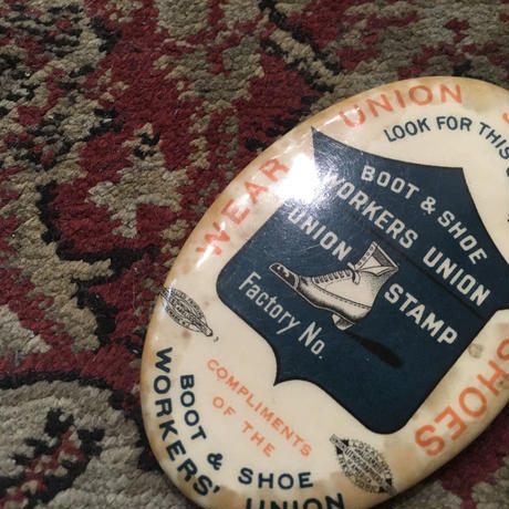 1910's〜 BOOT&SHOE WORKERS UNION Hand Mirror