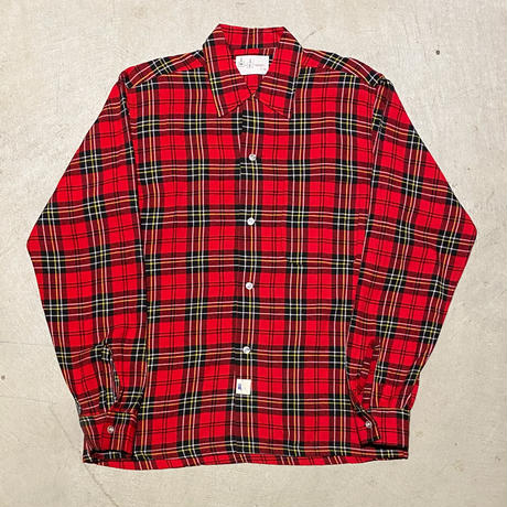 1960's M F Rayon L/S Shirt Deadstock
