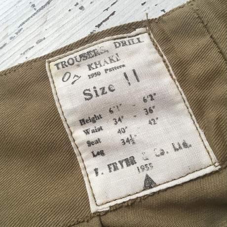 1950's British Army Gurkha Trousers Deadstock