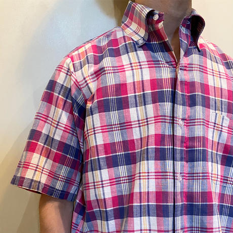 1960〜70's Brooks Brothers Indian Madras S/S Shirt