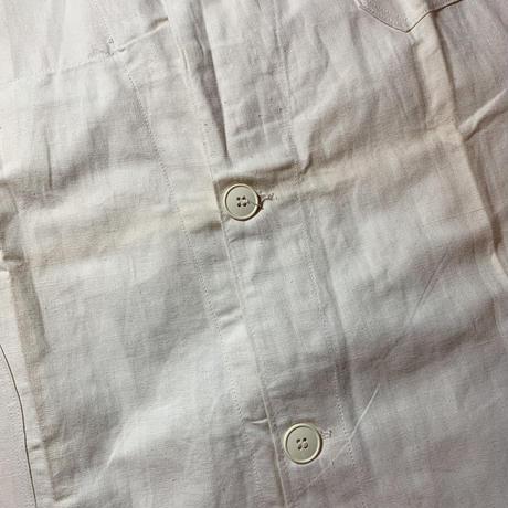 1940's〜 French Military Hospital Linen Coat Deadstock