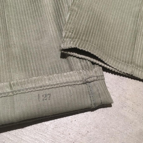 1960's Lee Leens Corduroy Tapered Pants Deadstock