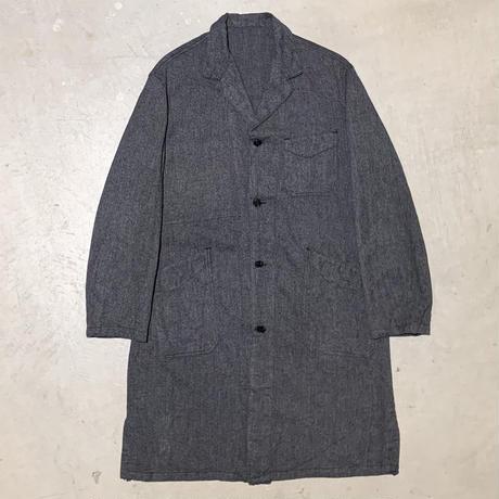 1950's Le Cres Souple Black Chambray Atelier Coat