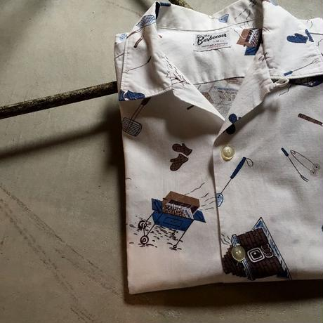 1950〜60's Barbecuer S/S Shirt With Cap