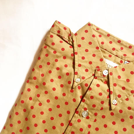 1960's CARLYLE Dots L/S Shirt Deadstock