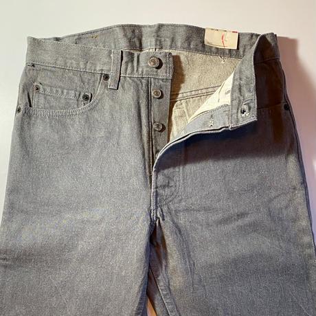 1980's Levi's 501 Gray Denim Pants Deadstock