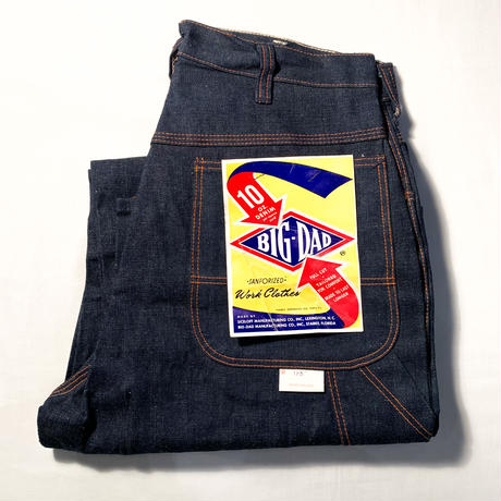 1950's〜 BIG-DAD Denim Painter Pants Deadstock