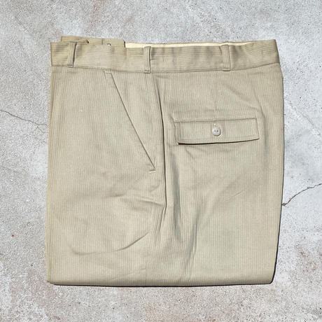 1960's Unknown Cotton Tapered Pants Deadstock
