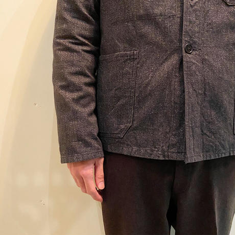 1950's French Unknown Black Chambray Work Jacket