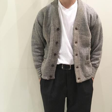 1940〜50's Unknown Salt&Pepper Sweat Cardigan