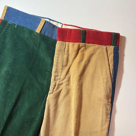 1970〜80's Brooks Brothers Crazy Pattern Corduroy Pants Deadstock
