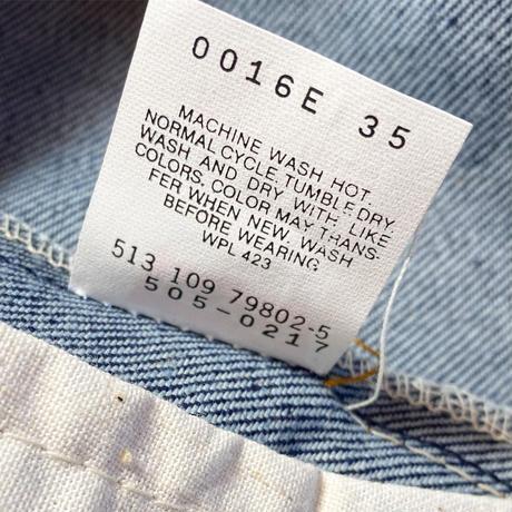 1980〜90's Levi's 505 Denim Pants Deadstock