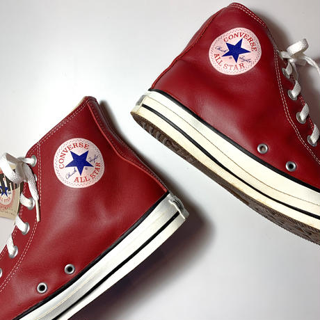 1990's CONVERSE ALL STAR Leather Hi Deadstock
