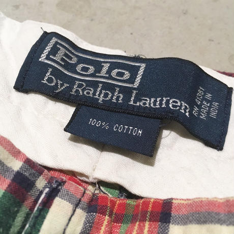 1990〜00's Polo by Ralph Lauren Indian Madras Patchwork Trousers