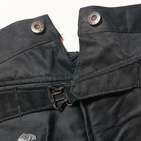 1930's〜 L'ATHLETE Black Moleskin Trousers Deadstock