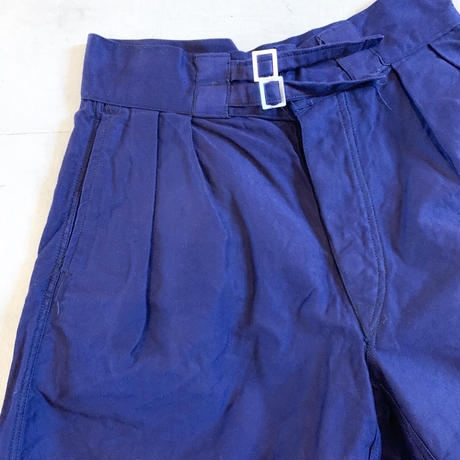1960's Italy Navy Gurkha Short Pants