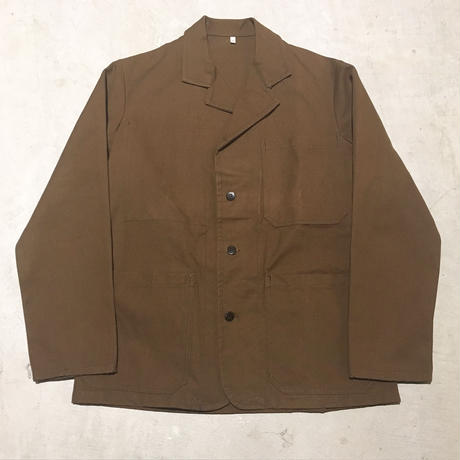 1950's〜 French Unknown Cotton&Linen Jacket Deadstock